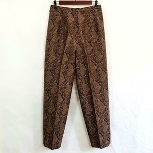 Talbots Paisley Wool Silk Ankle Pants